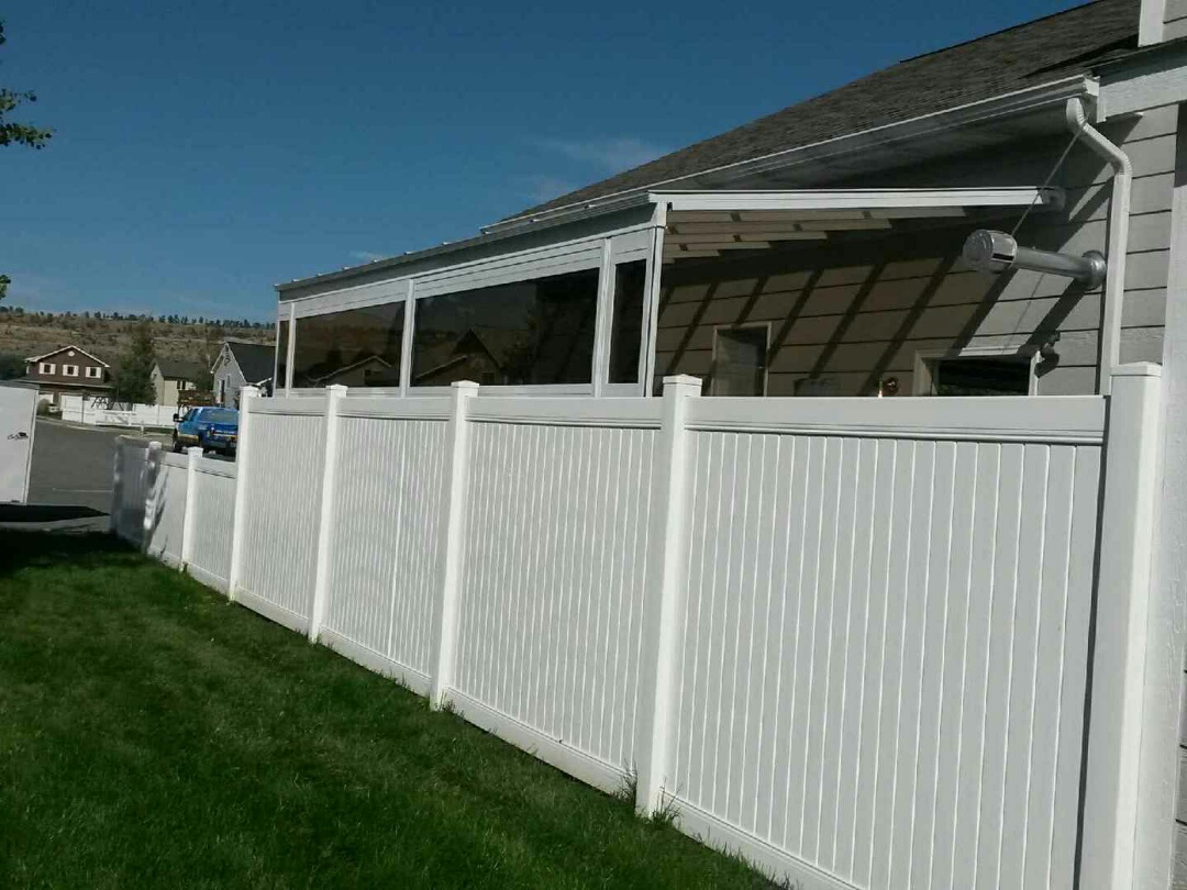 Vinyl wall and patio cover on exterior of house in Montana
